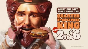 Burger King Quarter Pound King 2 for $6 TV Spot, 'Questions' Song by Hoàng Read - Thumbnail 2