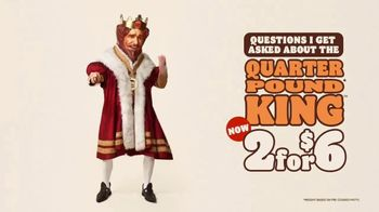 Burger King Quarter Pound King 2 for $6 TV Spot, 'Questions' Song by Hoàng Read - Thumbnail 3