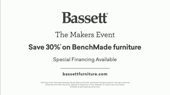 Bassett The Makers Event TV Spot, 'Save 30% on BenchMade Furniture' - Thumbnail 7