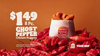 Burger King Ghost Pepper Chicken Nuggets TV Spot, 'Feel the Flame'