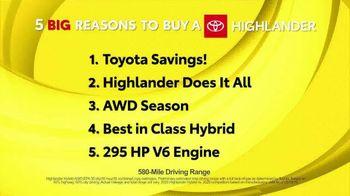 Toyota Fall Savings TV Spot, 'Reasons to Buy a Highlander' [T2] - Thumbnail 1