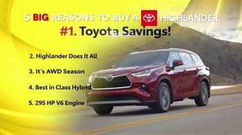 Toyota Fall Savings TV Spot, 'Reasons to Buy a Highlander' [T2] - Thumbnail 2