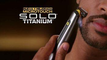 MicroTouch Solo Titanium TV Spot, 'Retoca y recorta' [Spanish]