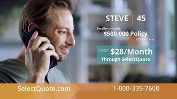SelectQuote TV Spot, 'Steve: $28 a Month' - Thumbnail 4