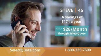 SelectQuote TV Spot, 'Steve: $28 a Month' - Thumbnail 5