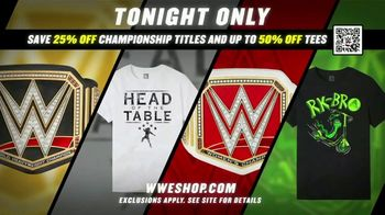 WWE Shop TV Spot, 'Feeling Good: Save 25% Off Championship Titles and 50% Off Tees' - Thumbnail 8