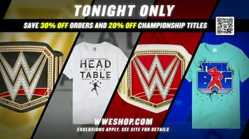 WWE Shop TV Spot, 'Feeling Good: 30% Off Orders and 20% Off Championship Titles' - Thumbnail 7