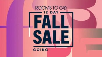 Rooms to Go 12 Day Fall Sale TV Spot, '60 Months Interest Free Financing' - Thumbnail 1