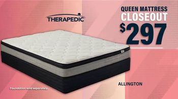 Rooms to Go Fall Sale TV Spot, 'Therapedic Queen Mattress'