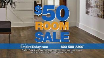 Empire Today $50 Room Sale TV Spot, '$50 Additional Room: Laminate, Carpet, Hardwood'