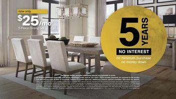 Ashley HomeStore Midnight Madness TV Spot, 'BOGO 50% Off: Sofa and Dining Set'