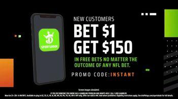 DraftKings Sportsbook TV Spot, 'NFL Instant Win: Bet $1, Win $150' - Thumbnail 6