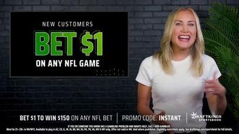 DraftKings Sportsbook TV Spot, 'NFL Instant Win: Bet $1, Win $150' - Thumbnail 4
