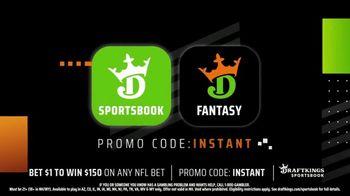 DraftKings Sportsbook TV Spot, 'NFL Instant Win: Bet $1, Win $150' - Thumbnail 5