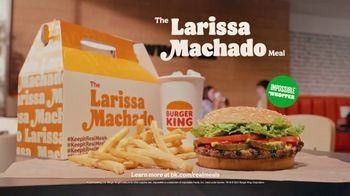 Burger King TV Spot, 'The Larissa Machado Meal: So Real' Song by Anitta