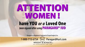 Wright & Schulte, LLC TV Spot, 'Paragard Injury'