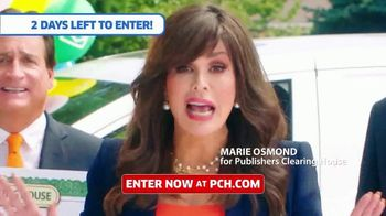 Publishers Clearing House TV Spot, 'This Is It: Two Days Left' Featuring Marie Osmond - Thumbnail 2