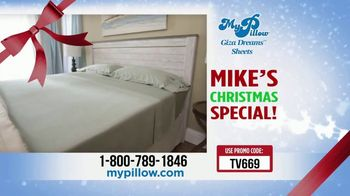 My Pillow Mike's Christmas Special TV Spot, 'Buy One Get One: Giza Dream Sheets' - Thumbnail 9