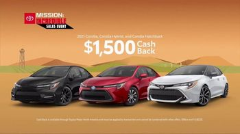 Toyota Mission: Incredible Sales Event TV Spot, 'In Motion: Corolla' [T2] - Thumbnail 4