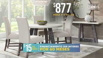 Rooms to Go La Venta por las Fiestas TV Spot, 'Mesa y sillas' [Spanish] - Thumbnail 5