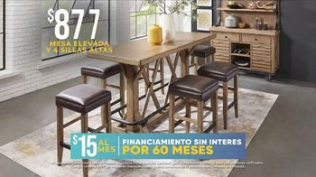 Rooms to Go La Venta por las Fiestas TV Spot, 'Mesa y sillas' [Spanish] - Thumbnail 6