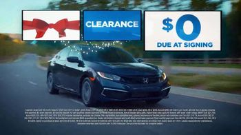 Happy Honda Days Sales Event TV Spot, 'Holiday Clearance: No Payments' [T2] - Thumbnail 1