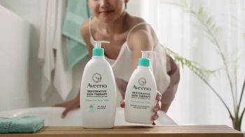 Aveeno Restorative Skin Therapy TV Spot, 'Intensely Moisturizes Over Time' - Thumbnail 9