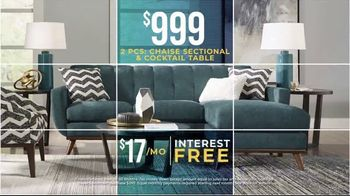 Rooms to Go Holiday Sale TV Spot, 'Perfect Look: Sectionals and Dining Sets' - Thumbnail 4
