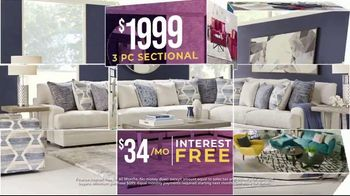 Rooms to Go Holiday Sale TV Spot, 'Perfect Look: Sectionals and Dining Sets' - Thumbnail 6