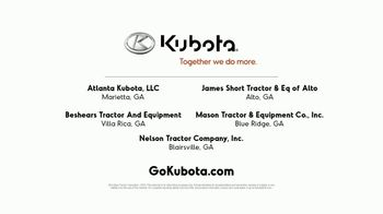 Kubota Compact Tractors TV Spot, 'Now's the Time: Zero Down + Save Up to $1,700' - Thumbnail 10