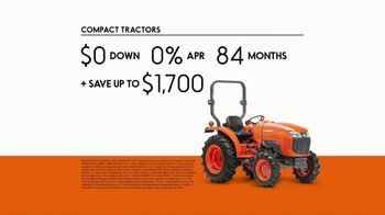 Kubota Compact Tractors TV Spot, 'Now's the Time: Zero Down + Save Up to $1,700' - Thumbnail 8