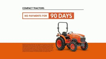 Kubota Compact Tractors TV Spot, 'Now's the Time: Zero Down + Save Up to $1,700' - Thumbnail 9