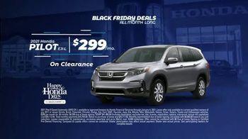 Happy Honda Days Sales Event TV Spot, 'Black Friday Deals All Month Long' [T2] - Thumbnail 3