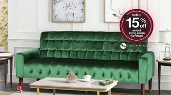 Overstock.com Early Black Friday Sale TV Spot, 'Extra 15% Off Select Living Room Furniture' - Thumbnail 4