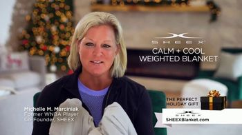 Sheex Calm + Cool Weighted Blanket TV Spot, 'Holidays: Give the Gift of a Hug' - Thumbnail 4