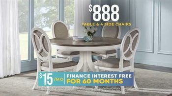 Rooms to Go Holiday Sale TV Spot, '$888 Table & Side Chairs' - Thumbnail 4