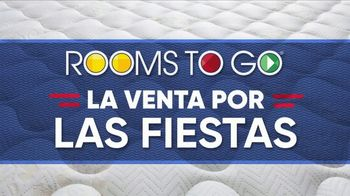 Rooms to Go La Venta por las Fiestas TV Spot, 'Colchón tamaño King' [Spanish] - Thumbnail 2