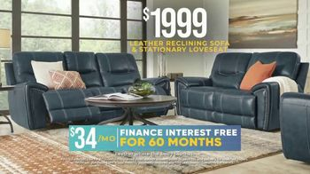 Rooms to Go Holiday Sale TV Spot, 'Recline in Comfort: $1,999 Leather Reclining Sofa' - Thumbnail 6