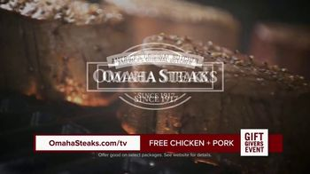 Omaha Steaks Gift Givers Event TV Spot, 'A Gift Like No Other: Free Chicken and Pork' - Thumbnail 4