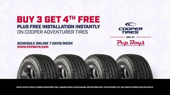 PepBoys TV Spot, 'Scheduling: Buy Three Cooper Tires, Get a Fourth Free' - Thumbnail 9