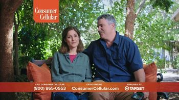 Consumer Cellular TV Spot, 'Folks: Chrissy and Mitch: Holiday $25 Off' - 145 commercial airings