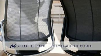 Relax the Back Early Black Friday Sale TV Spot, 'Free Upgrade on X-Chair or 20% Off'