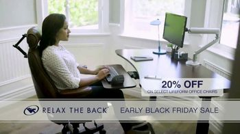 Relax the Back Early Black Friday Sale TV Spot, 'Free Upgrade on X-Chair or 20% Off' - Thumbnail 7