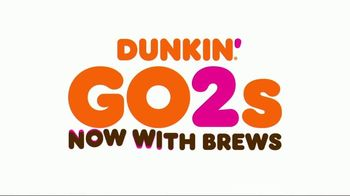 Dunkin' Go2s TV Spot, 'Now With Brews' - Thumbnail 1