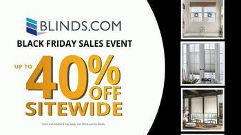 Blinds.com Black Friday Sales Event TV Spot, 'Huge Deals All Month Long: 40% Off'