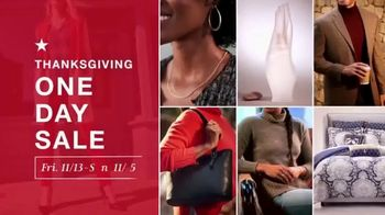 Macy's Thanksgiving One Day Sale TV Spot, 'Cozy Gifts and Diamond Jewelry' - Thumbnail 2