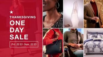 Macy's Thanksgiving One Day Sale TV Spot, 'Holiday Gifts: Boots, Ninja Blender and Comforters' - Thumbnail 1