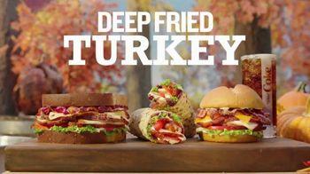 Arby's Deep Fried Turkey Pillow TV Spot, 'Greatest Turkey Sleep of All Time' - Thumbnail 1