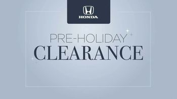 Happy Honda Days Sales Event TV Spot, 'Pre-Holiday Clearance: Holiday Lights' [T2] - Thumbnail 3