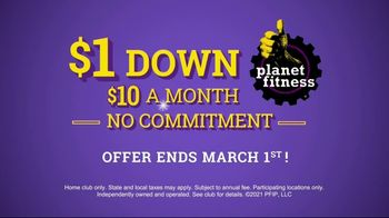Planet Fitness TV Spot, 'Squeaky Clean: $1 Down' - Thumbnail 8